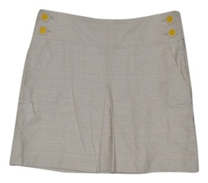 J.Crew Kick Pleat Resort Pockets School Girl Mini Skirt Beige