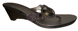 Kenneth Cole Reaction Faux pewter Sandals