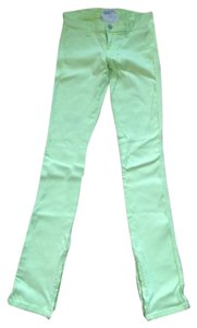 Elizabeth and James Overdyed Stretchy Zippers Skinny Jeans-Light Wash