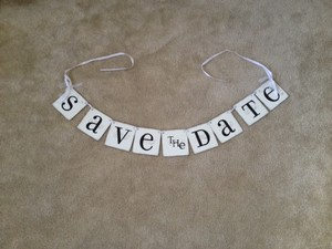 White Save The Date Banner
