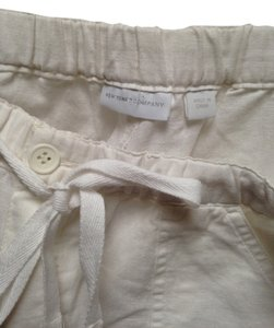 New York & Company Linen 12 (l) Capri/Cropped Pants white