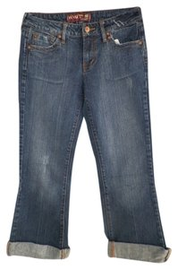 Hint Jeans Recycled Affordable Fashions Capri/Cropped Denim-Medium Wash