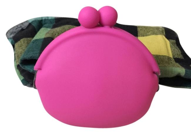 Item - Hot Pink Jelly Rubber Bubble Pouch | Cosmetic Bag