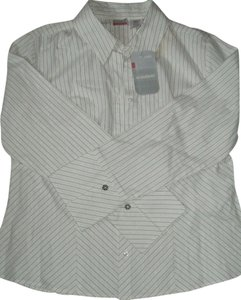 No Boundaries Button Down Shirt White