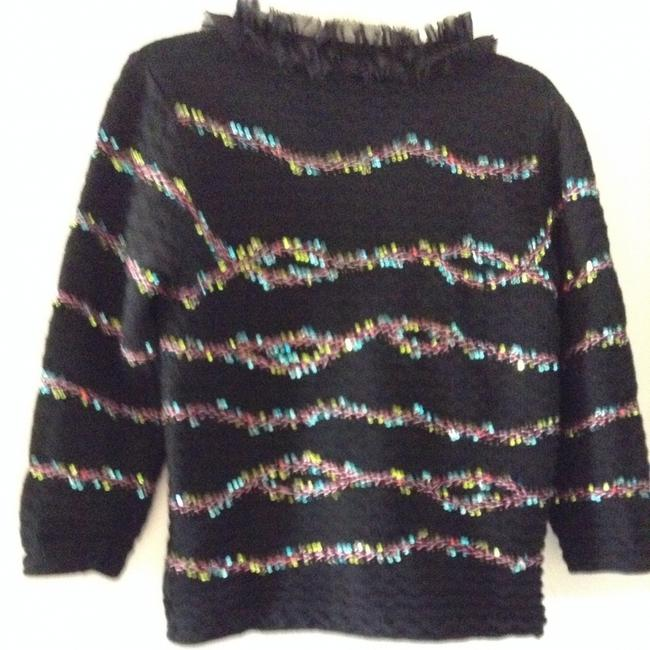 Michael Simon Stitching & Sequin Accents Cardigan