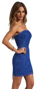 Diane von Furstenberg Strapless Lace Floral Mini Dress