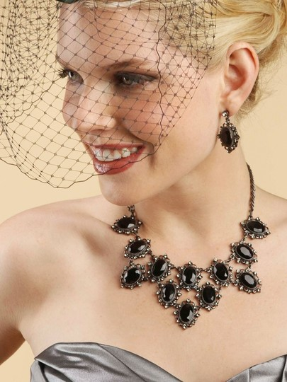 Mariell Black Birdcage French Netting Face 730fv-je Bridal Veils