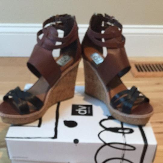 Dolce Vita Cognac Leather Wedges