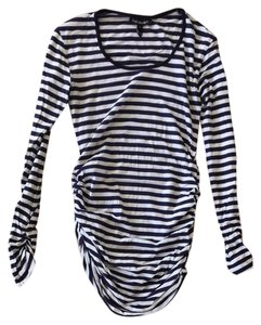 Isabella Oliver Navy And White Stripe Maternity Top
