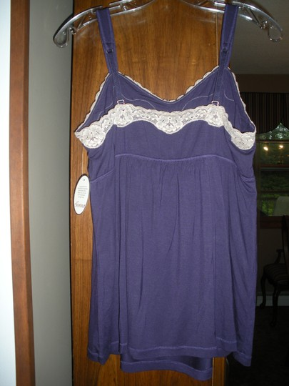Soma Intimates Soma Intimates Cool Nights Lace Trim Purple Cami Large