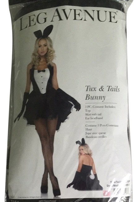 Item - Black Tux and Tails Bunny Halloween Costume Night Out Dress Size 2 (XS)