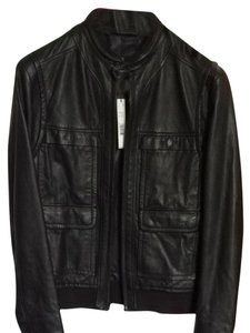 Elie Tahari Black Leather Jacket