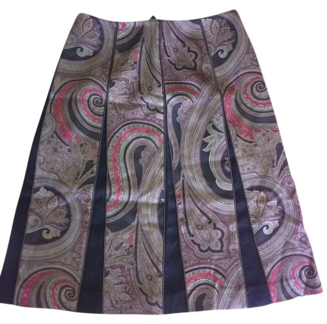 Etcetera Boots Fall Skirt Brown/Black multi