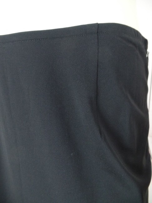 Calvin Klein Small Straight Slinky Sexy Fine Knit Skirt Black