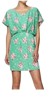 Collective Concepts short dress Seafoam Green Floral Day Dolman Sleeve Floral Print on Tradesy