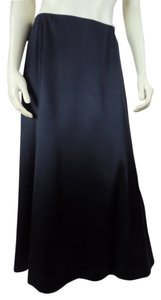 Talbots Silk Plus Size 16w Maxi Skirt Black