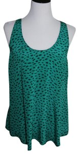 Joie Top Green Leopard