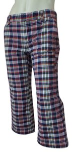Tommy Hilfiger Tommy Jeans Capris Red, White, Blue, Yellow Plaid