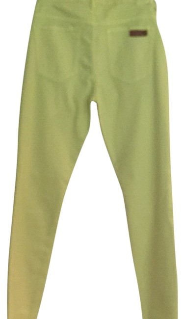 Item - Lime Green Light Wash Visionnaire Skinny Jeans Size 29 (6, M)