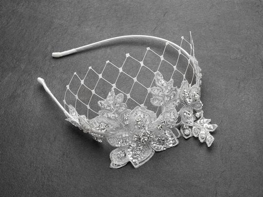 Preload https://item4.tradesy.com/images/mariell-white-luxurious-crystal-embellished-lace-headband-with-wide-netting-4086hb-w-hair-accessory-3623053-0-0.jpg?width=440&height=440
