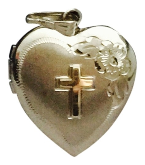 Preload https://item2.tradesy.com/images/silver-with-14-k-on-cross-pendant-heart-locket-for-necklace-charm-3623116-0-0.jpg?width=440&height=440