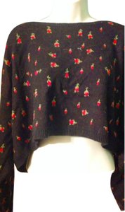 Betsey Johnson Rose Rosebuds Sweater