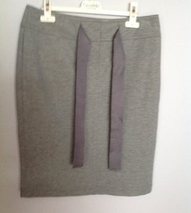 Escada Soft Comfortable Unique Skirt Open gray