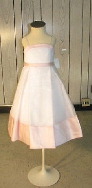Item - White/Pink -flowergirl-dress-style-1030-size-3-white-pink #193 (Mr193)