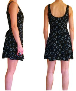 Betsey Johnson short dress Black Rayon Vintage Print on Tradesy
