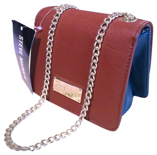 Steve Madden Handbags Leather Crossbody Going Out Tan Multi Clutch