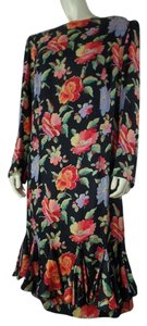 Louis Feraud Vintage Midi Floral Sk Dress