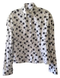 ALAÏA Button Down Shirt White/black