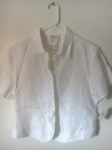 Talbots Button Down Shirt Crisp White