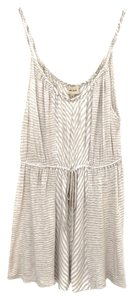 Ella Moss Stripe Pattern Top beige + white