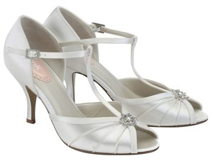 Paradox Perfume London Bridal White Satin Pumps