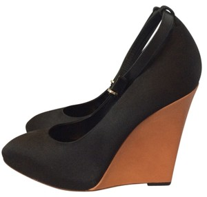 Céline Platform Wedge Heels Black Wedges