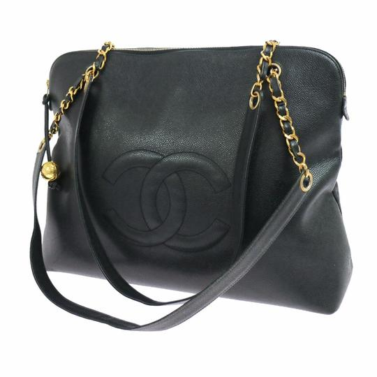 Preload https://item4.tradesy.com/images/chanel-jumbo-cc-gold-chain-black-caviar-leather-shoulder-bag-3625663-0-3.jpg?width=440&height=440
