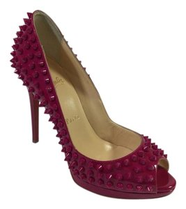 Christian Louboutin Yolanda Spikes Grenadine Pumps