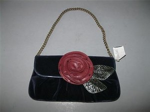 Marc Jacobs Flower Navy Clutch