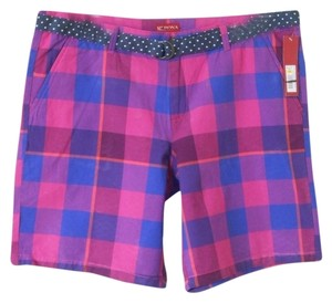 Merona Plaid Bermuda Shorts Purple