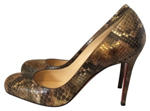 Christian Louboutin Red Bottom Heel Animal Print Pumps