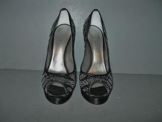 Casadei Jeweled Strassed Swarovski Crystals Clear Crystals Crystals Black Pumps