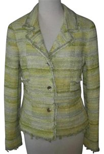 Chanel Chanel 05c 42 Cruise Yellow Tweed Jacket Blazer