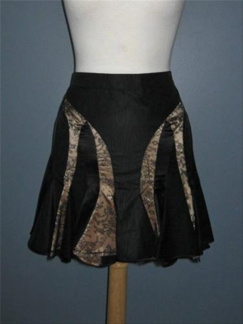 Alexander McQueen Silk Lace Mini Fit And Flare Mini Skirt Black