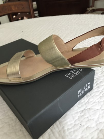 Eileen Fisher Metallic gold and brown Sandals