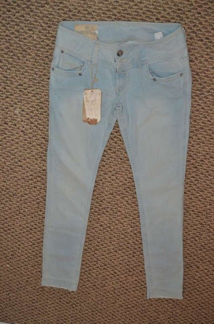 Bershka These Are 'like A Second Skin' Exact Measurements Are: Waist 16 Skinny Jeans-Light Wash