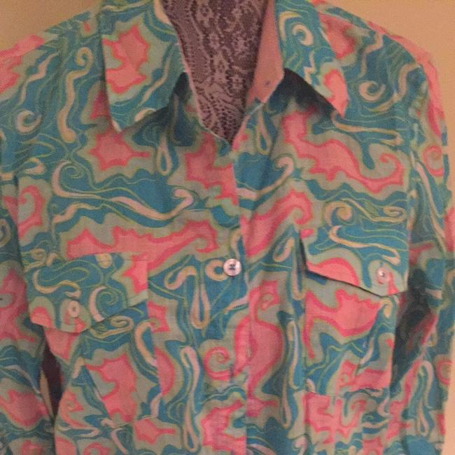 Lilly Pulitzer Button Down Shirt Multi colored