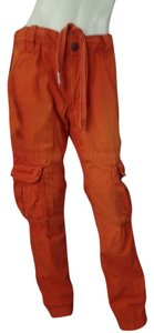 Aeropostale Cargo Utility Cotton Cargo Pants Orange