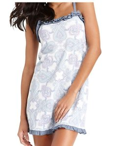 Tommy Hilfiger Blue Paisely New Ruffle Chemise - Xl