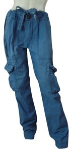 Aeropostale Cargo Utity Slouch Pockets Cargo Pants Dusty Blue